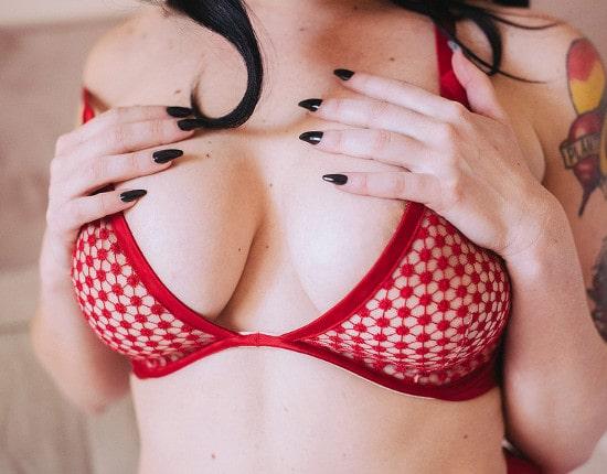 big tits and black nails mistress