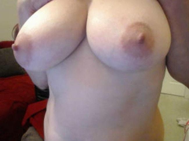 big tits granny teasing topless