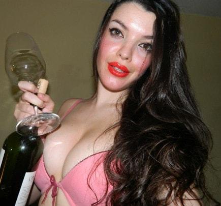 big tits femdom mistress teasing cleavage